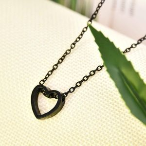 Jewelry - 3 for $30 NEW Black Stainless Steel Heart …